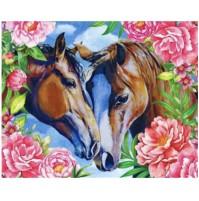 Diamond Painting  coppia cavalli  30X40cm