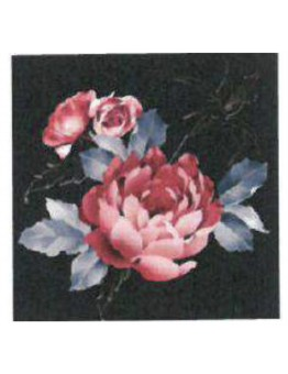 Diamond Painting 2 rose nere 20x20 cm