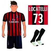 Completo Maglia Locatelli 73 Ac Milan 2018 replica ufficiale Autorizzata