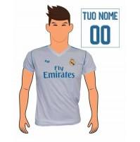 Maglia Real Madrid personalizzata con il tuo nome 2017/2018 replica ufficiale Autorizzata