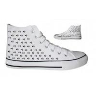 Scarpe borchiate Uomo o Donna Sneakers bianca
