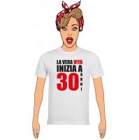 T-Shirt Donna Buon Compleanno per i tuoi 30 anni