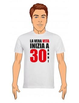 T-Shirt Uomo Buon Compleanno per i tuoi 30 anni