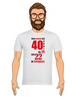 T-Shirt Uomo Buon Compleanno per i tuoi 40 anni