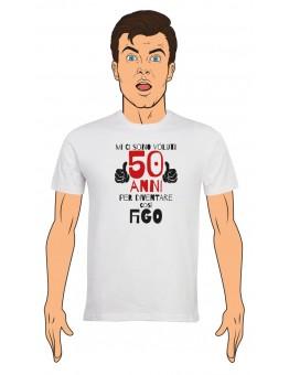 T-Shirt Uomo Buon Compleanno per i tuoi 50 anni