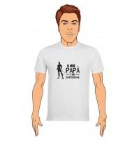 T-Shirt Uomo Il mio papà è un supereroe